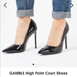 Topshop GAMBLE Patent Leather High Heels